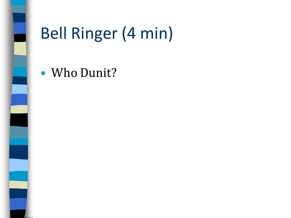 Bell Ringer (4 min) Who Dunit?
