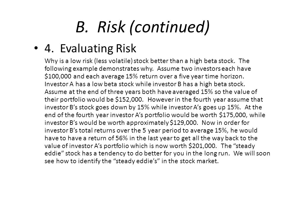 B. Risk (continued) 4.
