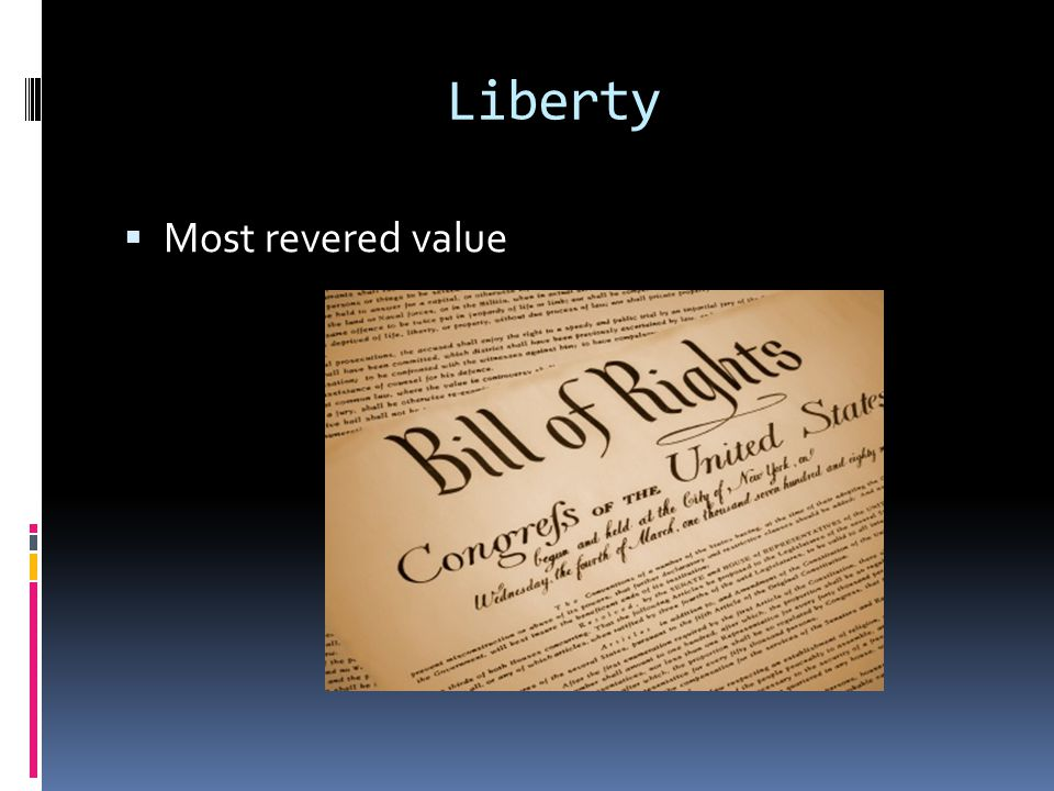 Liberty  Most revered value