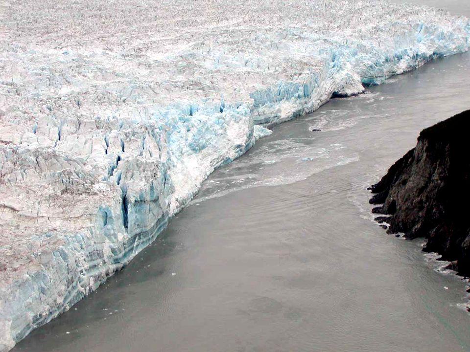 Terminal moraine Heap or ridge of bulldozed gravel that marks the end of the forward motion of a glacier As glacier retreats it deposits debris/gravel P.