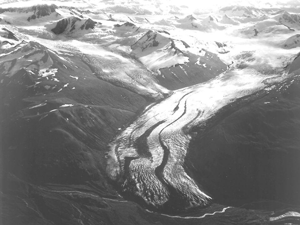 Distinguish between the terms alpine glaciation and continental glaciation.