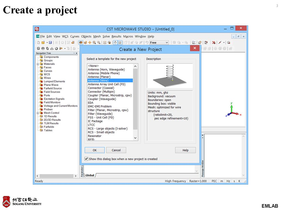 EMLAB 4 Modeling of a structure 길이 L