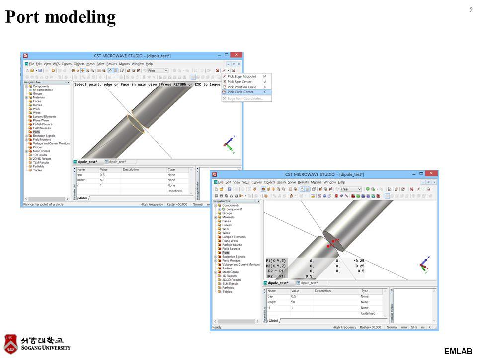 EMLAB 5 Port modeling