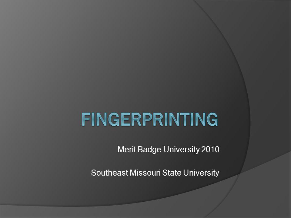 Basic Principles of Fingerprinting  Permanence Never change, stay same shape Grow larger as fingers grow with age  Individual No two prints are alike Never repeated on another person Over 100 years of worldwide comparisons, no fingerprints the same (even identical twins are different)