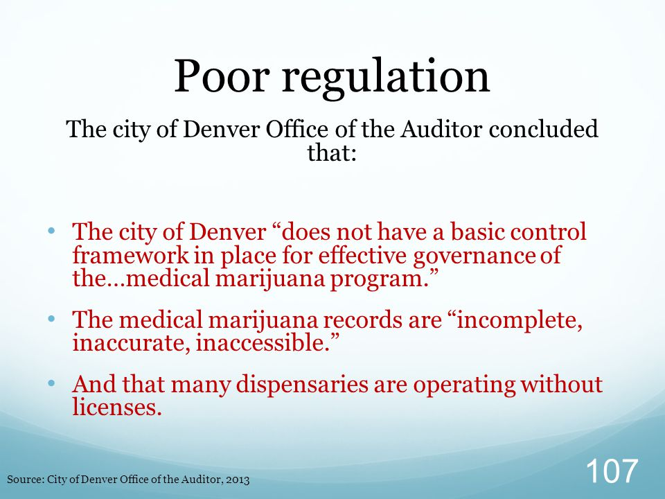 """The city of Denver Office of the Auditor concluded that: The city of Denver """"does not have a basic control framework in place for effective governance"""