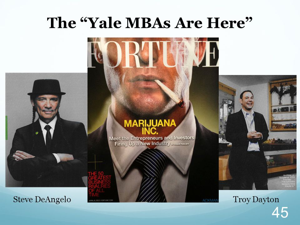 "The ""Yale MBAs Are Here"" Steve DeAngeloTroy Dayton 45"