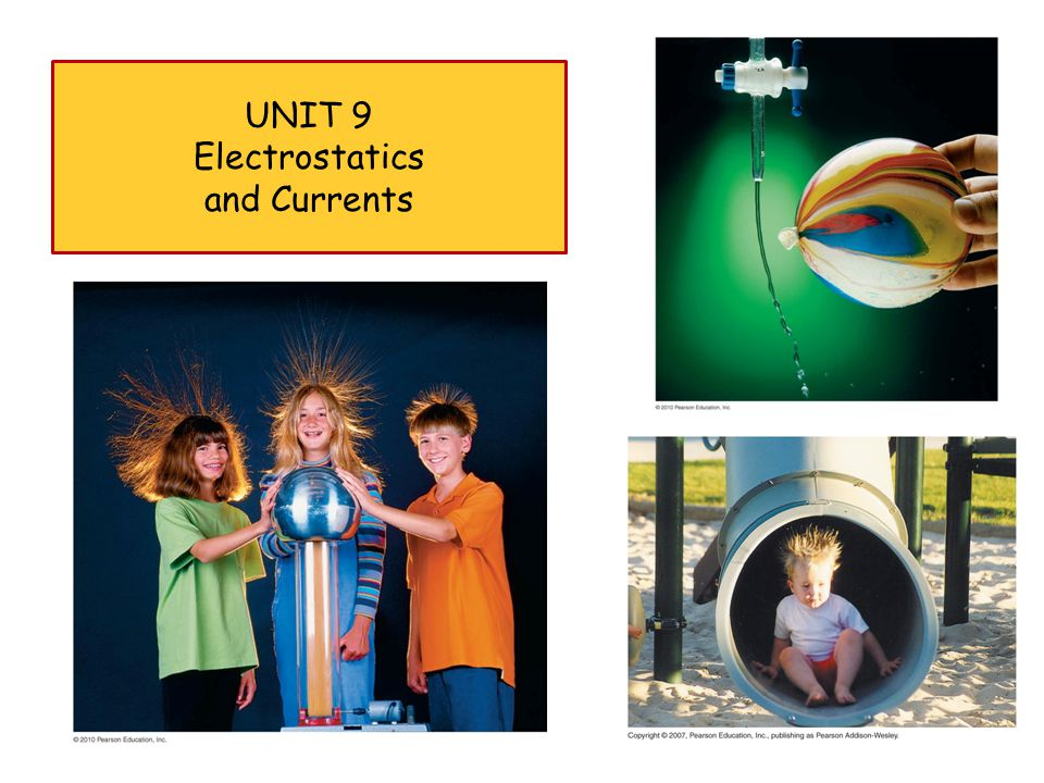 UNIT 9 Electrostatics and Currents 1