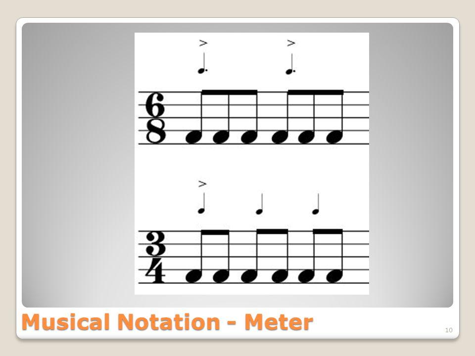 Musical Notation - Meter 10
