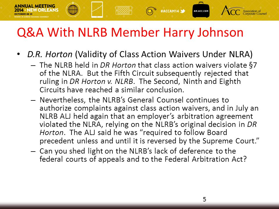 Q&A With NLRB Member Harry Johnson Joint Employer Relationship – The NLRB General Counsel has indicated a desire to redefine more broadly when a host employer may be deemed a joint employer of a contractor's employees for collective bargaining purposes.