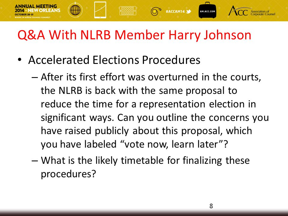 Q&A With NLRB Member Harry Johnson Use of employer email systems – In the 2007 Register Guard decision, the Board limited union access to employer email systems, finding no statutory NLRA right of access.