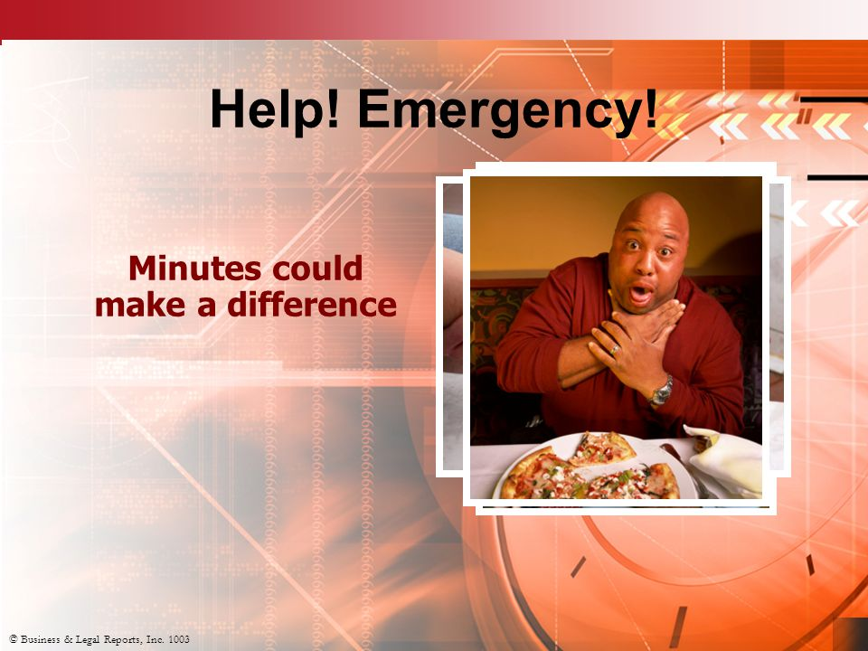 © Business & Legal Reports, Inc. 1003 Help. Emergency.