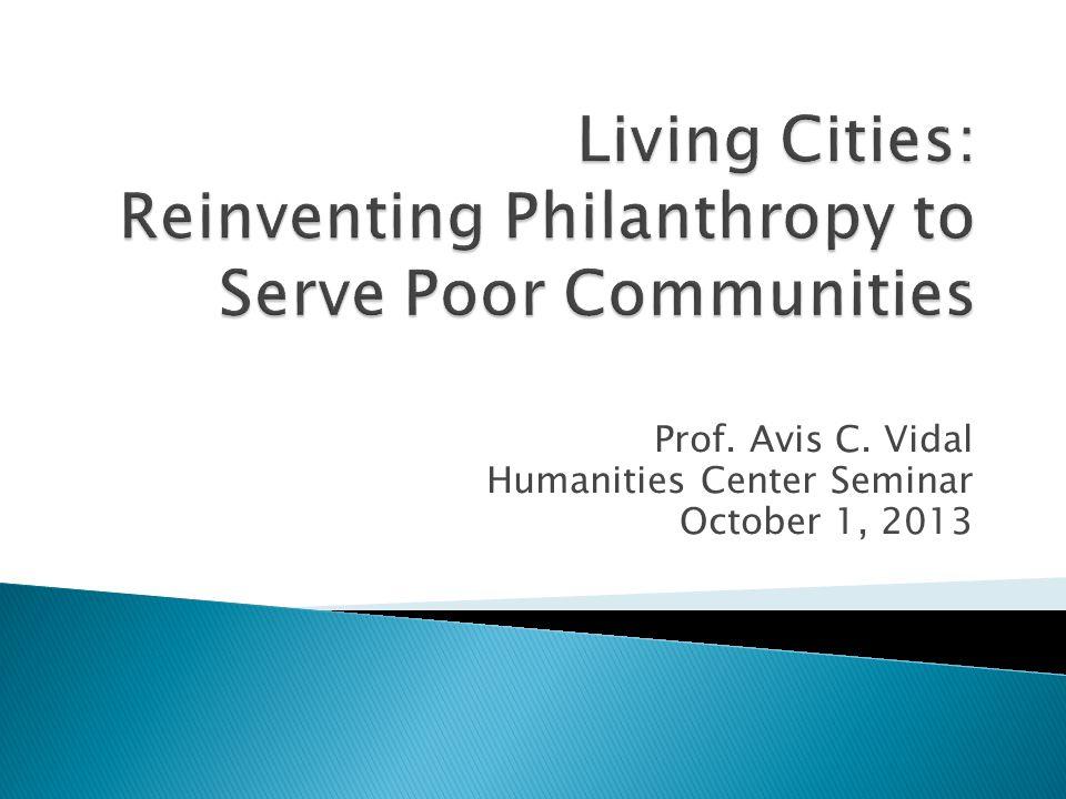Prof. Avis C. Vidal Humanities Center Seminar October 1, 2013