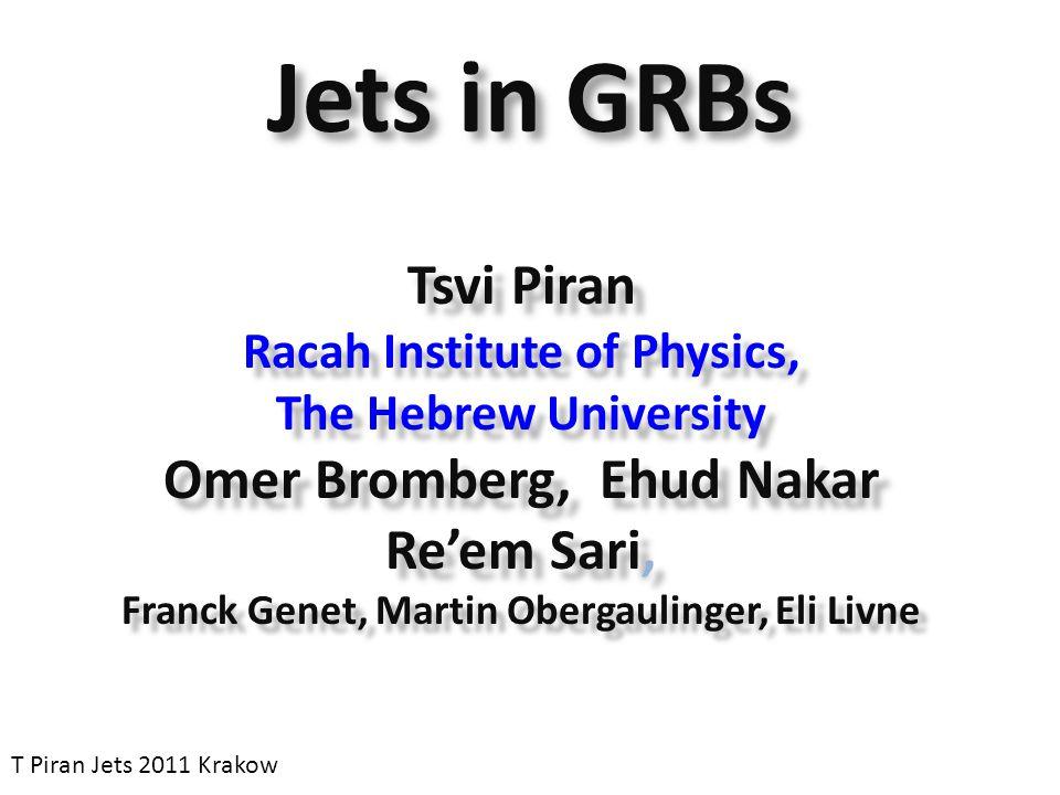 GRB Duration Distribution T Piran Jets 2011 Krakow