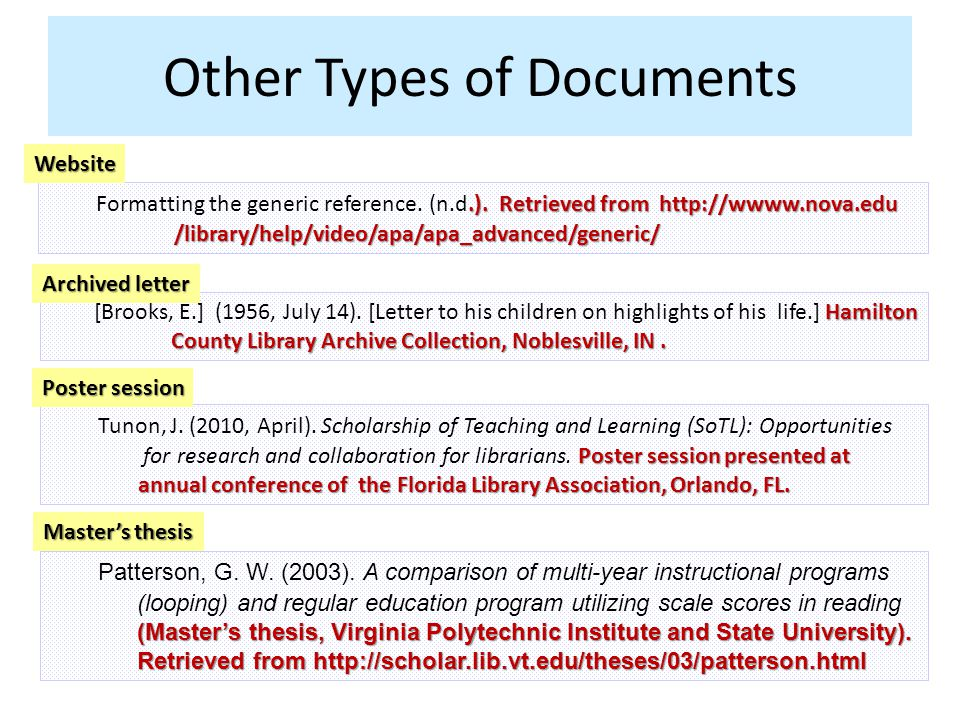 Other Types of Documents.).