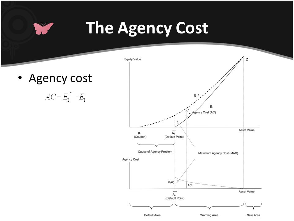 The Agency Cost Agency cost