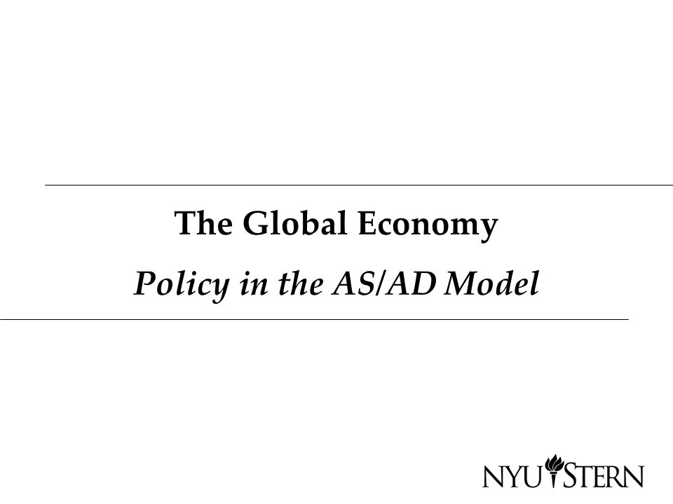 The Global Economy Policy in the AS/AD Model