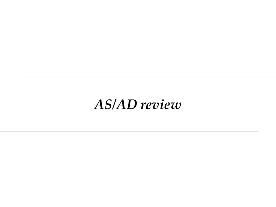 AS/AD review