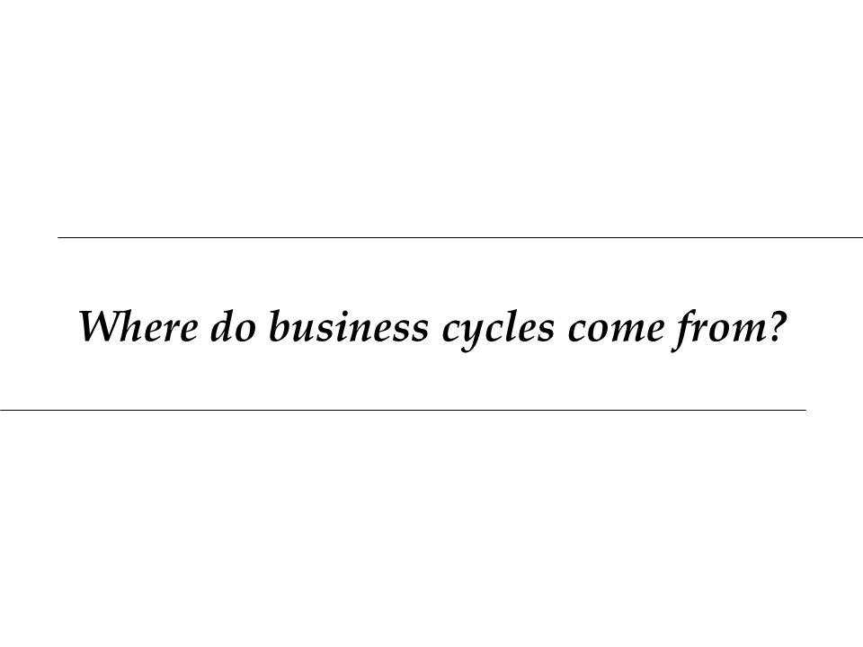 Where do business cycles come from