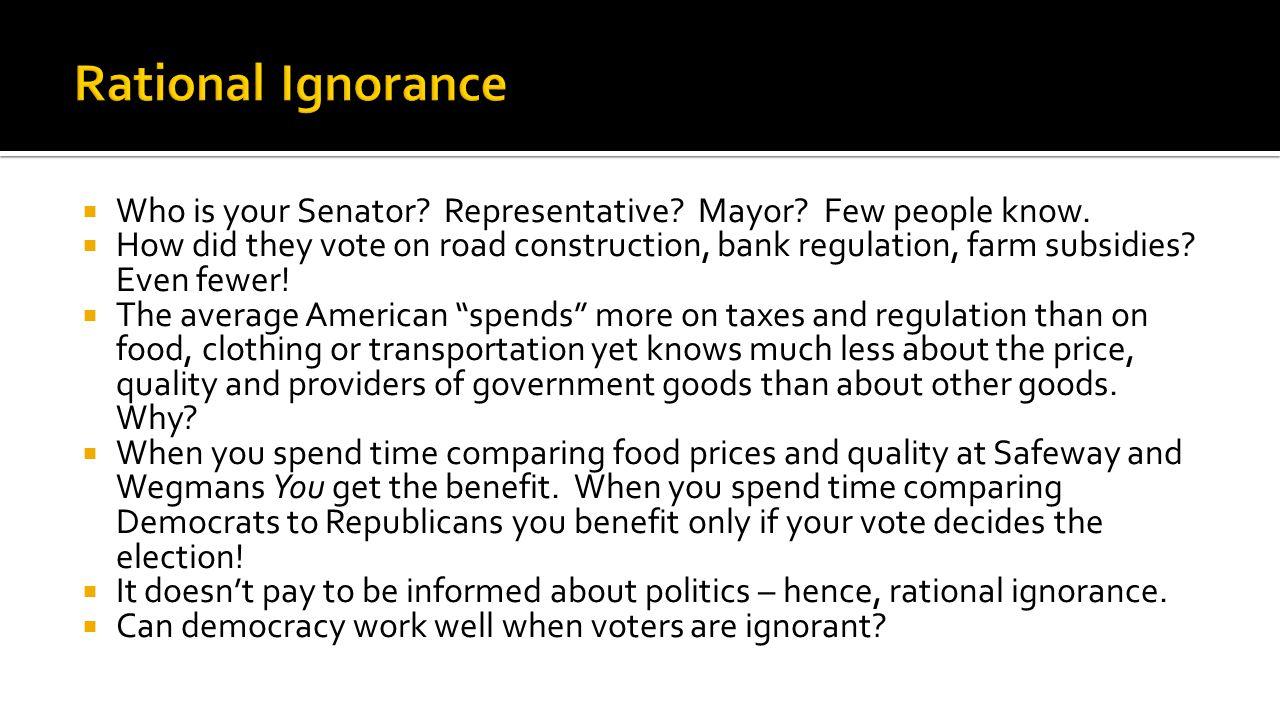  Who is your Senator. Representative. Mayor. Few people know.