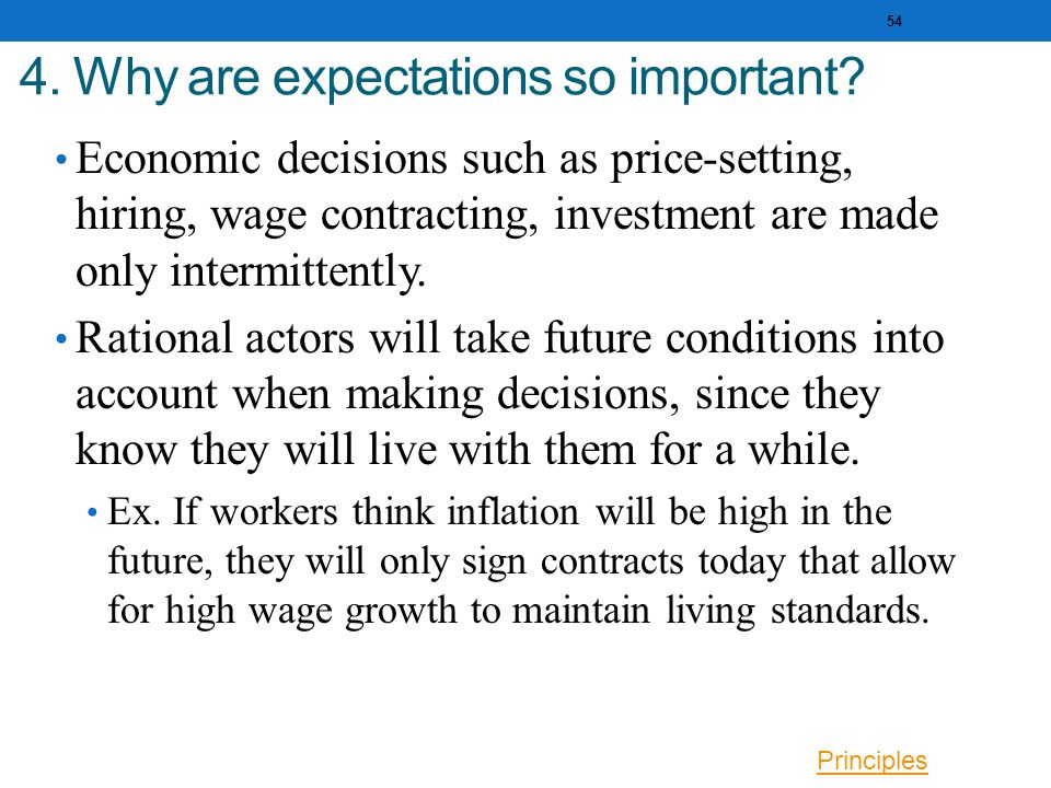 4. Why are expectations so important.