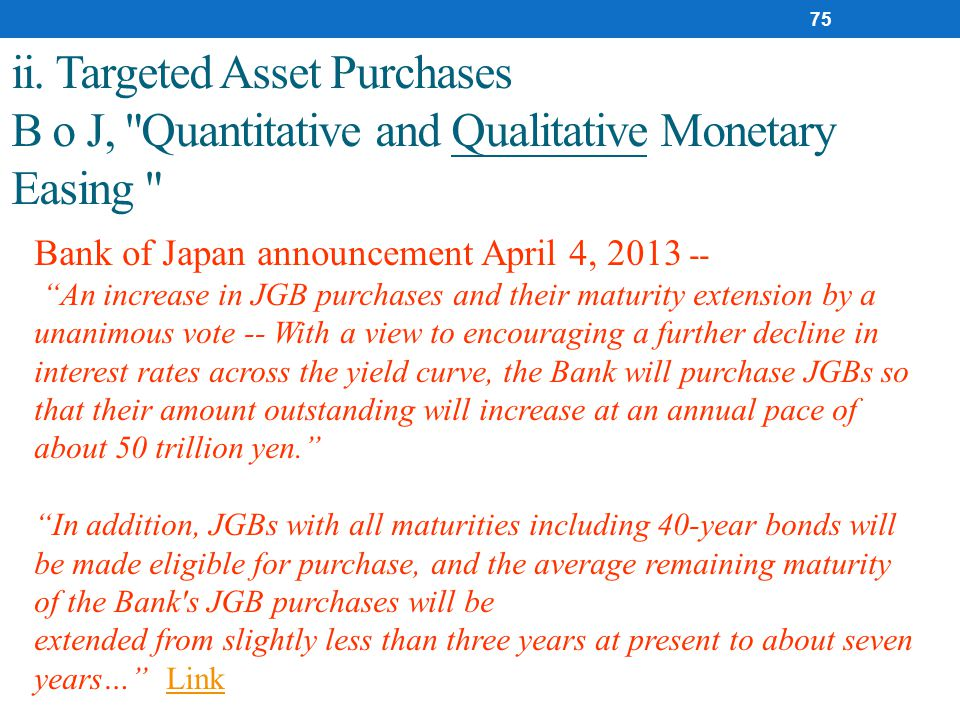 ii. Targeted Asset Purchases B o J,
