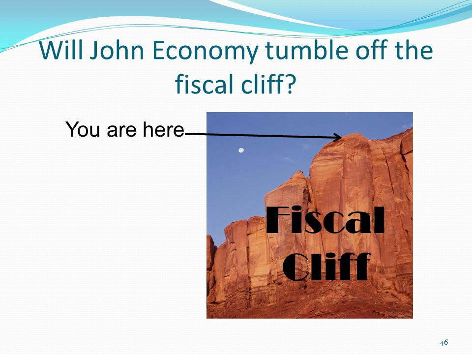 Will John Economy tumble off the fiscal cliff 46 You are here Fiscal Cliff