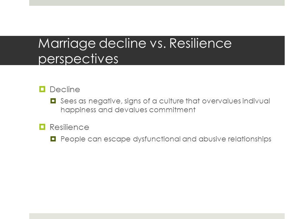 Marriage decline vs.