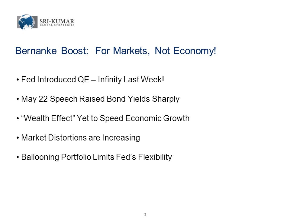 Bernanke Boost: For Markets, Not Economy. Fed Introduced QE – Infinity Last Week.