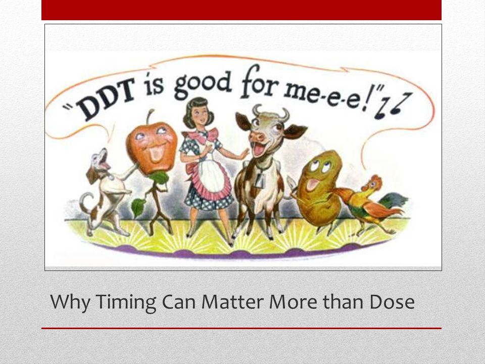 Why Timing Can Matter More than Dose