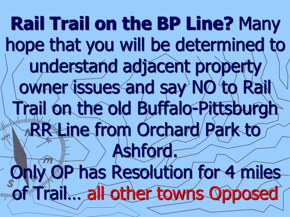 Rail Trail on the BP Line.