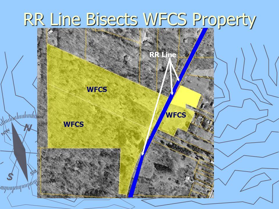 RR Line Bisects WFCS Property RR Line WFCS