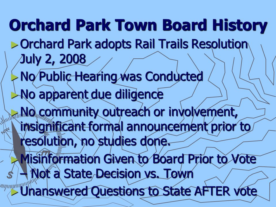The Rail Trail has many Negatives ► Cost ► Safety ► Privacy ► Town Board MisInformation ► Other Options, Scenic Rail, Nature.org….