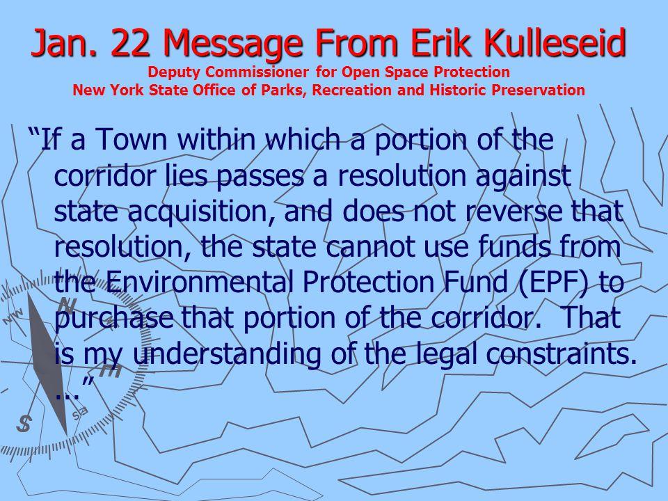Jan. 22 Message From Erik Kulleseid Jan.