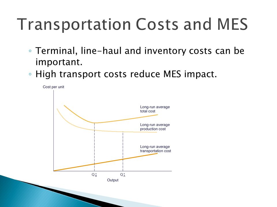  The advantages of large scale production that result in lower unit (average) costs (cost per unit)  Our Formula: ◦ AC = TC / Q  AC=Average Cost  TC=Total Cost  Q= Quantity  Economies of scale – spreads total costs over a greater range of output