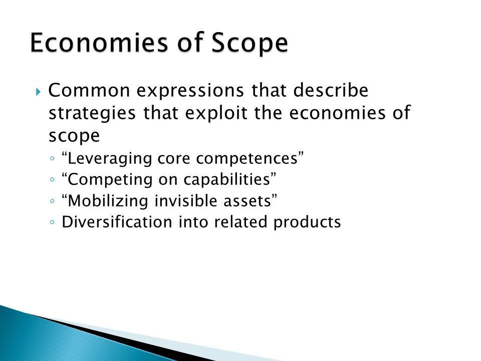  Internal Economies of scale  External Economies of scale