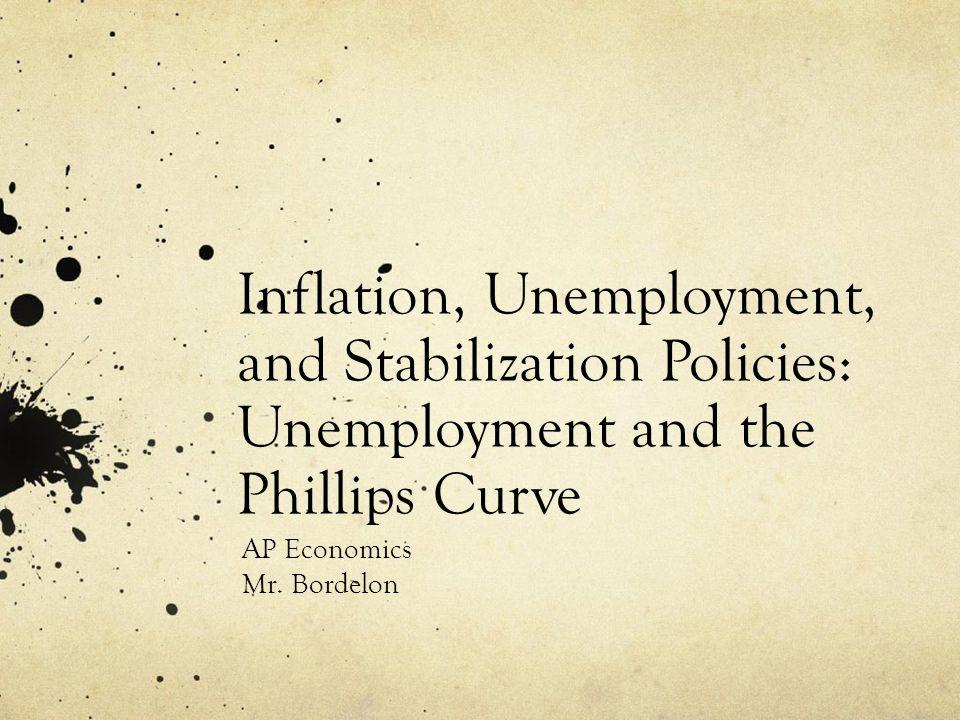 Inflation, Unemployment, and Stabilization Policies: Unemployment and the Phillips Curve AP Economics Mr. Bordelon