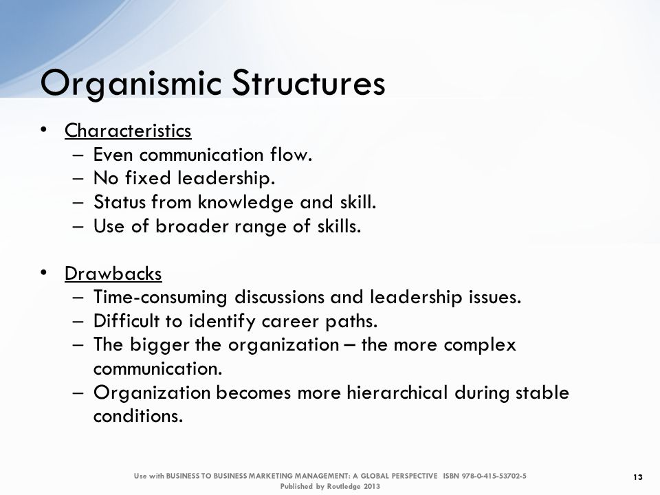 Characteristics – Even communication flow. – No fixed leadership.