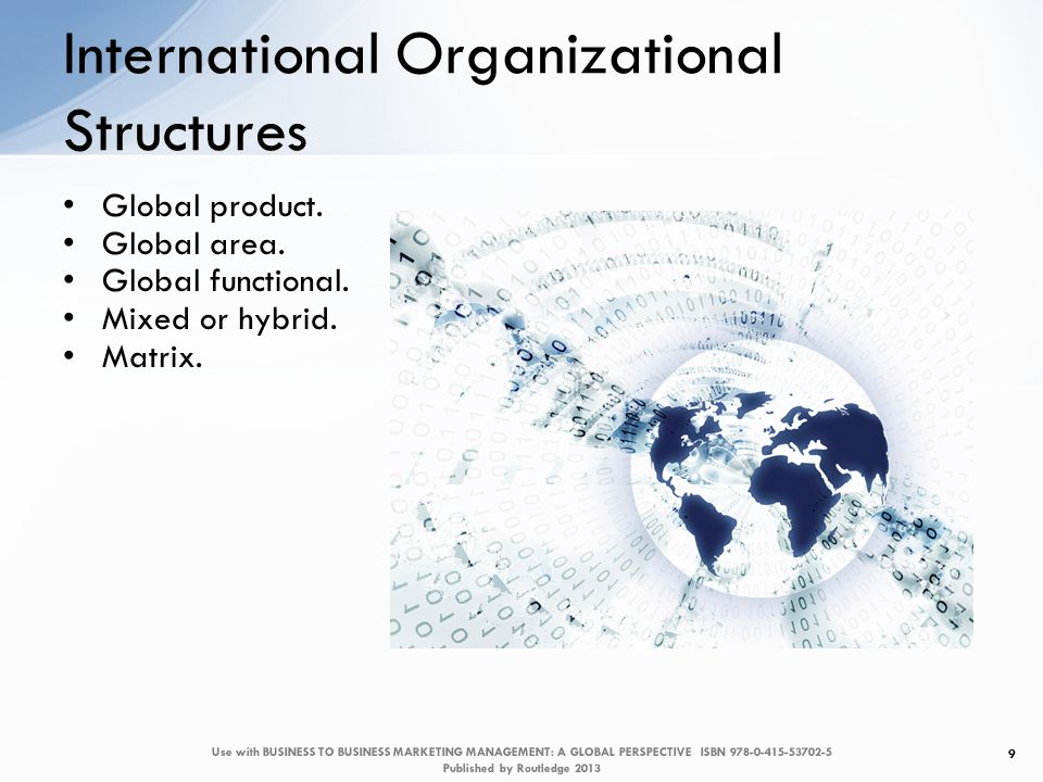 Case Figure 1 20 Use with BUSINESS TO BUSINESS MARKETING MANAGEMENT: A GLOBAL PERSPECTIVE ISBN 978-0-415-53702-5 Published by Routledge 2013 KIS organization
