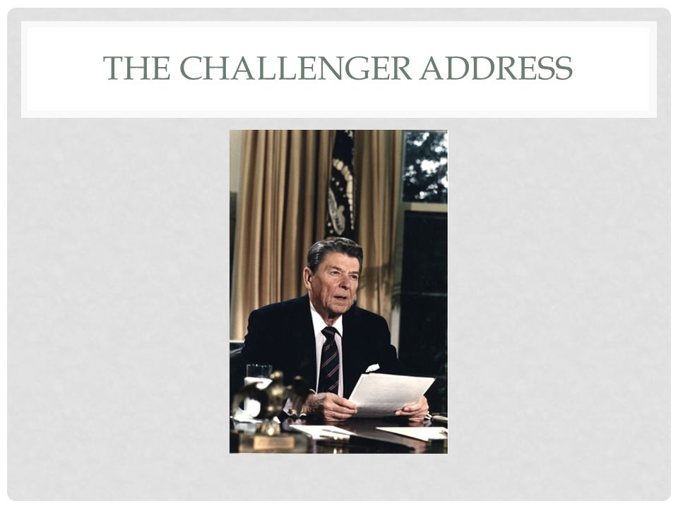 THE CHALLENGER ADDRESS