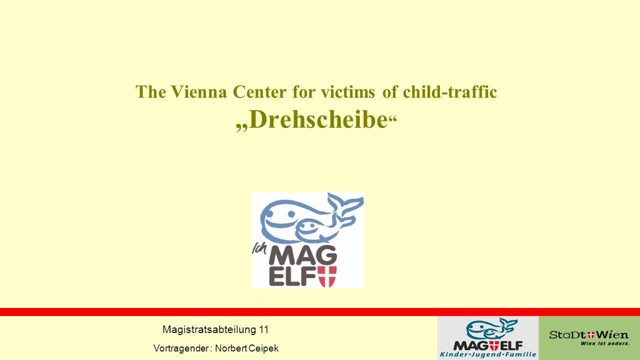 """Magistratsabteilung 11 Vortragender : Norbert Ceipek The Vienna Center for victims of child-traffic """"Drehscheibe """""""
