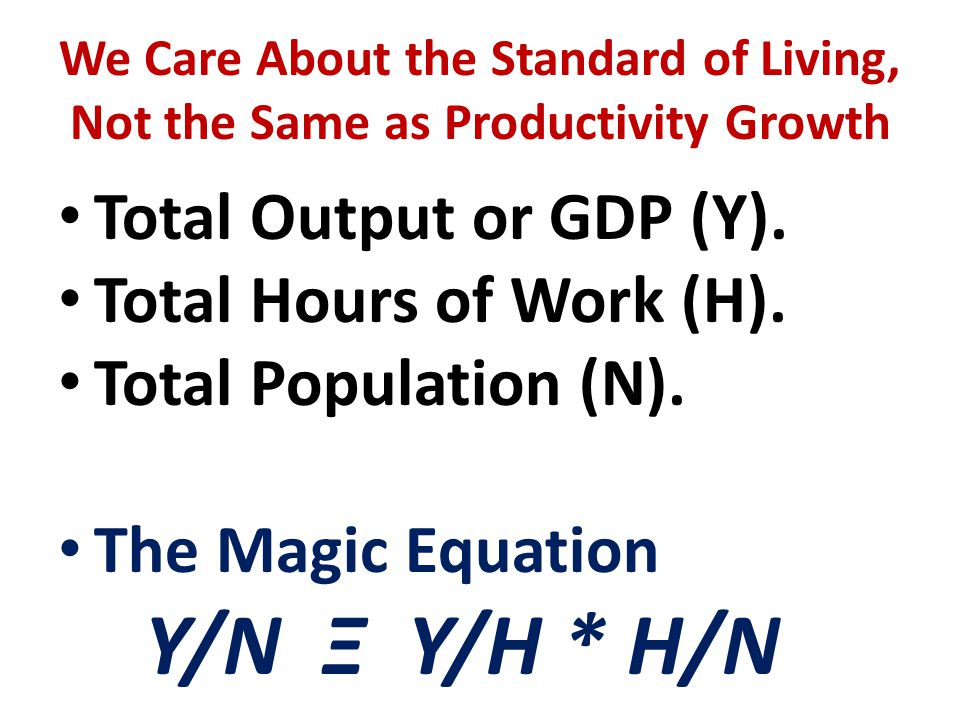 The Magic Equation in Action, 1891-2013
