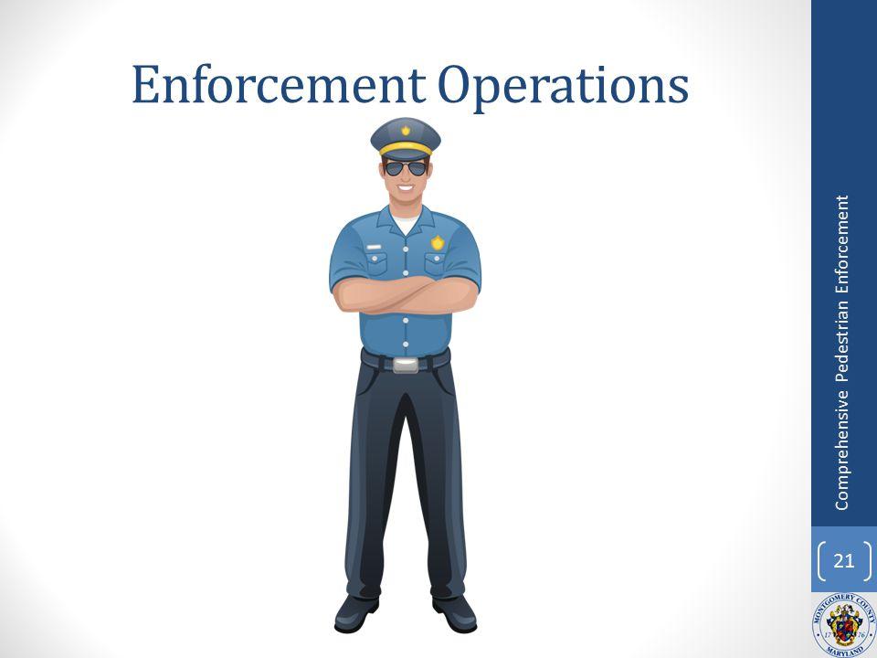 Enforcement Operations 21 Comprehensive Pedestrian Enforcement