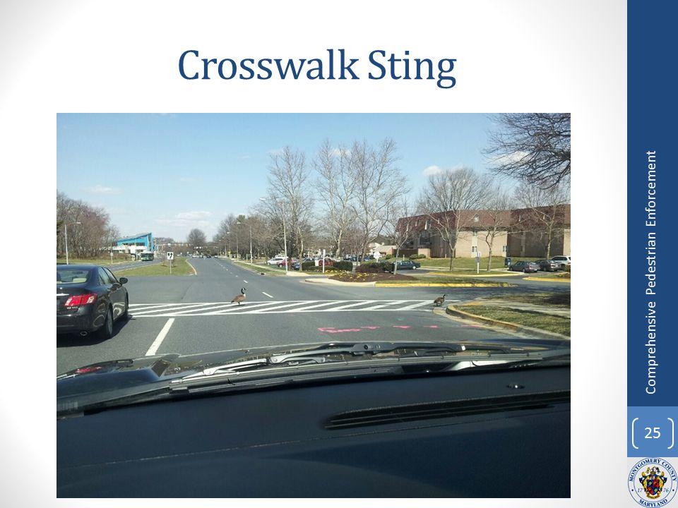 Crosswalk Sting 25 Comprehensive Pedestrian Enforcement