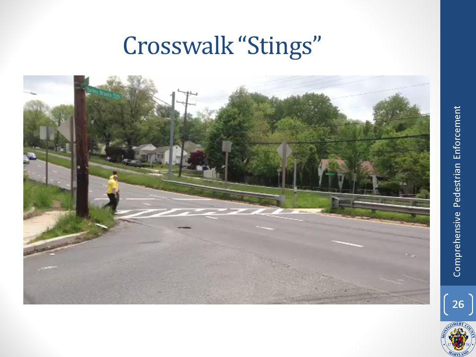 Crosswalk Stings 26 Comprehensive Pedestrian Enforcement
