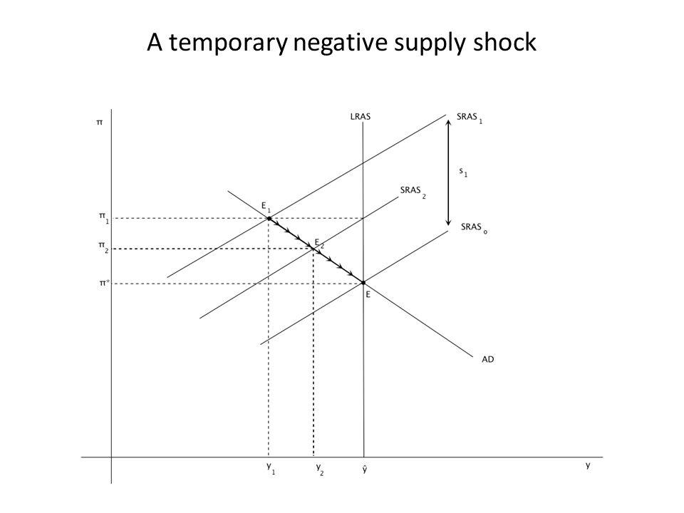 A temporary negative supply shock