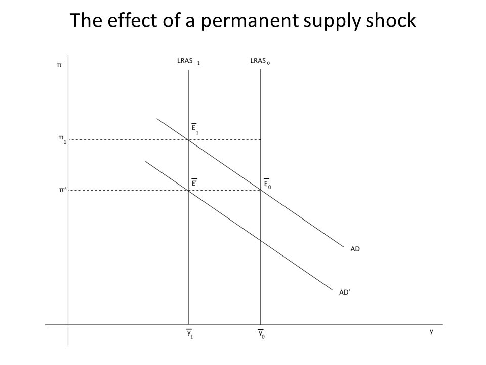 The effect of a permanent supply shock