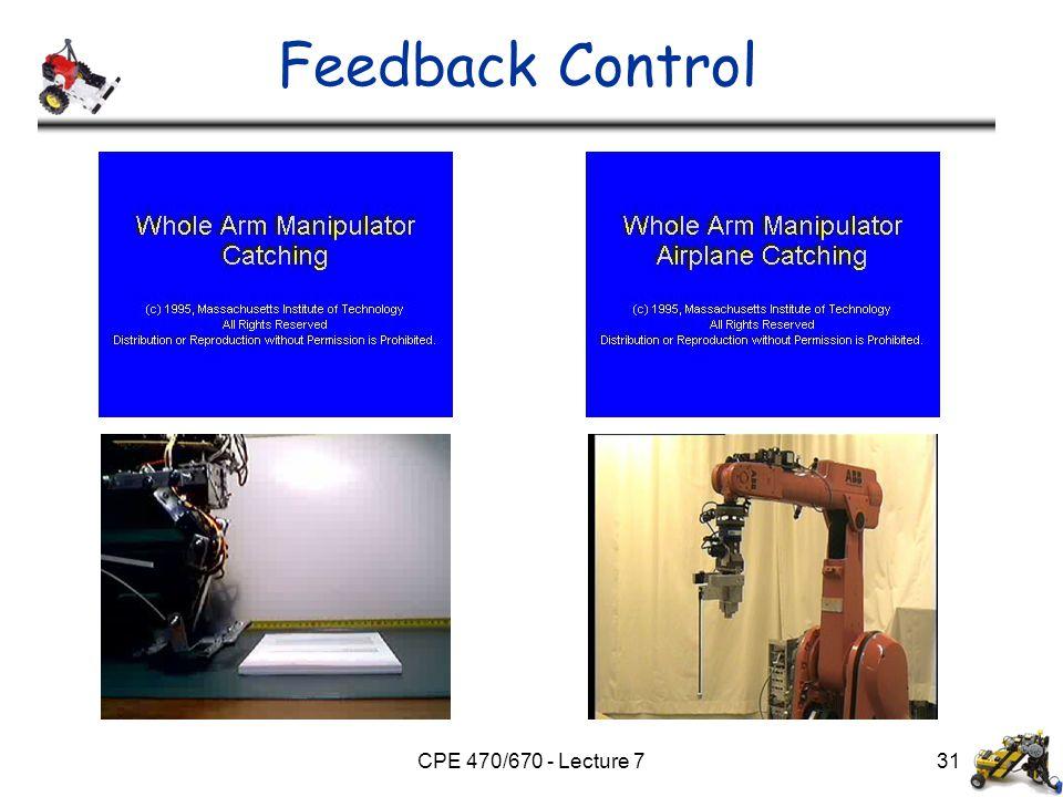 CPE 470/670 - Lecture 7 Feedback Control 31