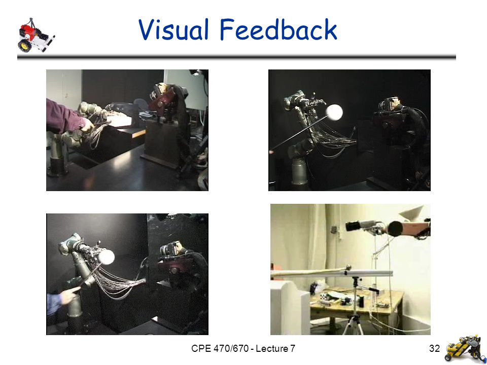 CPE 470/670 - Lecture 7 Visual Feedback 32