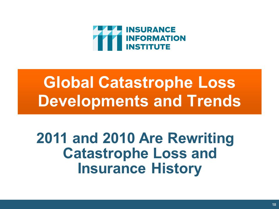 Global Catastrophe Loss Developments and Trends 18 2011 and 2010 Are Rewriting Catastrophe Loss and Insurance History