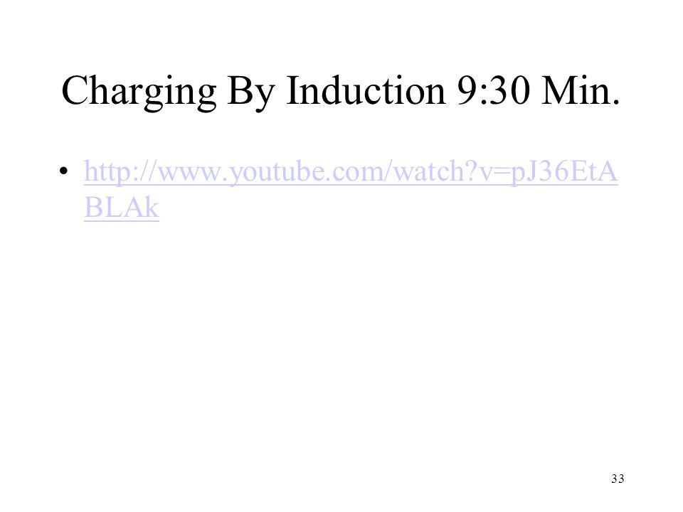 Charging By Induction 9:30 Min.